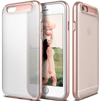 The Rose Gold and Frosted Crystal Matte Finish Dual Layer Bumper iPhone 6/6s Case
