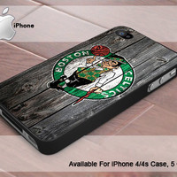 Boston Celtics NBA Team Logo  - Photo Print On Hard Plastic- iPhone 4 Case - iPhone 4s Case - iPhone 5 Case
