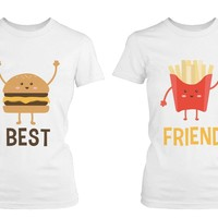 Cute Best Friend T Shirts - Hamburger and Fries - Funny BFF Matching Shirts