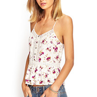 Woven Floral Lace Cami