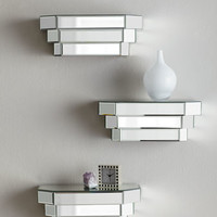 Mirrored Step Shelf