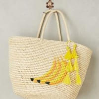 Sensi Studio Banana Bunch Tote in Yellow Size: One Size Bags