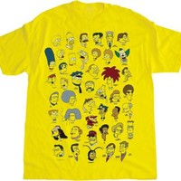 The Simpsons Character Faces T-shirt  - The Simpsons - | TV Store Online