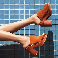 Jeffrey Campbell + Free People Womens Sonny Wood Mule