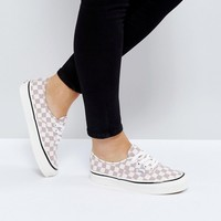 Vans Anaheim Authentic Sneakers In Lilac Check at asos.com