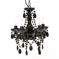 Silly Gypsy Chandelier Lamp Black Small 5-Light