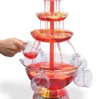Clearmax Lighted 3-Tiered Party Fountain with 8 Cups, 1 1/2 Gallon Capacity, Operates with an AC Adapter: Home & Kitchen