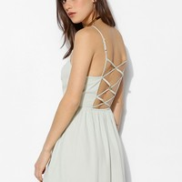 Pins And Needles Strappy-Back Chiffon Tank Dress - Urban Outfitters