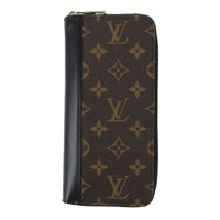 LOUIS VUITTON Zippy Wallet Vertical round wallet M60109 Monogram Brown
