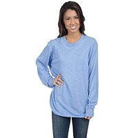 Slouchy Tee in Polar Blue by Lauren James