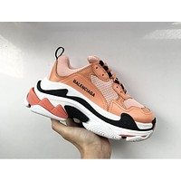 Alwayn Balenciaga Women's Fashion Color Matching Joker Shoes