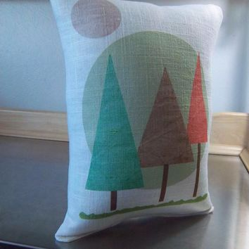 Woodland nursery cushion linen pillow new baby gifts