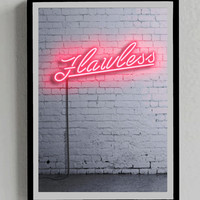 Flawless, Byonce, Poster, Neon Sign, Lights, Decor, Music, Room, iphone, ipad, Wall, Print, Gift, Her, Femenine, Instant Download