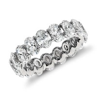 Oval Diamond Eternity Ring in Platinum (5.00 ct. tw.) | Blue Nile