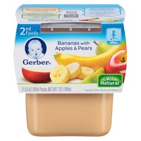 Gerber 2nd Foods - Bananas with apples & Pears 7 oz 2 pk