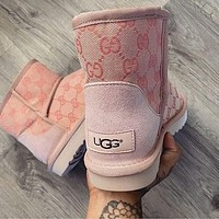 UGG GUCCI 2020 Male / female / child branded short boots-1