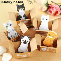 1pcs Cute cat Memo Pads Post it stickers Sticky notes writing paper Notepad Kawaii stationery Office papeleria Supplies Notas
