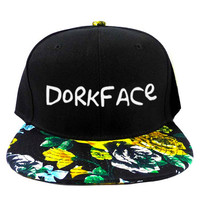 Dorkface Dark Eden Snapback Hat in Black & Floral