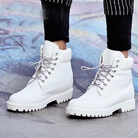 2016 Fashion Autumn Winter Leather Men Boots Black Casual White Shoes Travel Platform Cow Muscle Mens Work Boots Plus Size 39-45