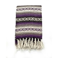 Mexican Blanket Serape colors purple, grey & black