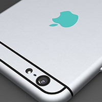 Teal Apple Logo Color Changer Vinyl Sticker Decal iPhone 6,Plus,5s,5c