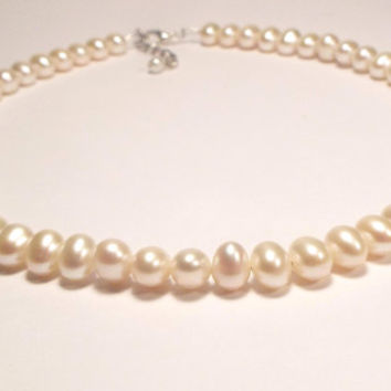 Pearl Necklace, Freshwater Pearl Necklace, Baby Necklace, Baby Jewelry, Youth Necklace, Girls Necklace, Kids Jewelry (Y2FW)