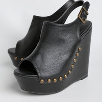 Chica Wedges In Black