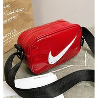 NIKE Newest Hot Sale Women Men Purse Shoulder Bag Crossbody Satchel Red