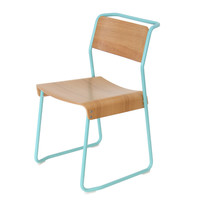 Canteen Utility Chair Oak-Grey White - RAL 9002 by Very Good & Proper