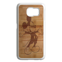 Mickey Mouse Wooden Samsung Galaxy S6 Case