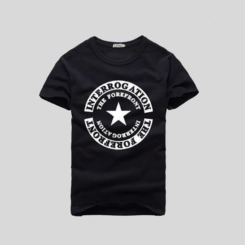 """""""Converse"""" Men Casual Fashion Five-pointed Star Letter Print Short Sleeve Cotton T-shirt Top Tee"""