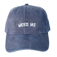 Weed Me Dad Hat (Wash Navy)