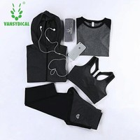 Top quality Yoga Sets Women's Sportswear Running Tights Womens Fitness Training Jogging Sport Suit Yoga Clothes Sport Jumpsuits