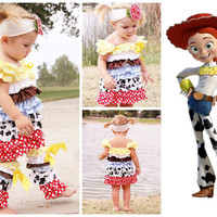 Jessie From Toy Story - Inspired Girls Petti Dress - Perfect Outfit For Toddlers Halloween Costume - Pageant Costume
