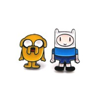 Adventure Time Finn and Jake The Dog Shaped Stud Earrings