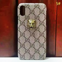 GUCCI New fashion bee leopard head more letter couple card protective cover phone case 5#