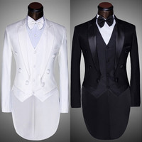 New Terno Masculino 2015 Spring Mens Fashion White Black Prom Wedding Suits For Men Tuxedo Brand Slim Suit Blazer Masculino 4Xl = 1958466372