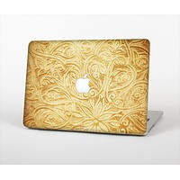 "The Vintage Antique Gold Grunge Pattern Skin Set for the Apple MacBook Pro 13"" with Retina Display"