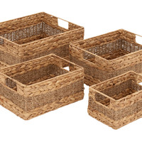Creative Styled Fascinating Sea Grass Basket S/4