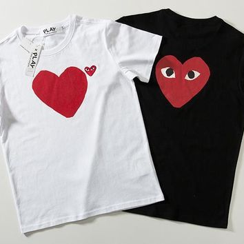 Short Sleeve Stylish Couple Casual T-shirts [1840848470067]