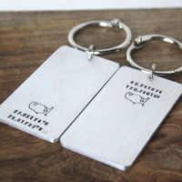 Matching Long Distance Keychains