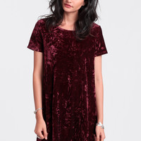 So Called Life Velvet Babydoll Dress