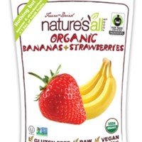 Nature's All organic freeze dried banana strawberry 1.8 oz