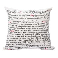 Love is -- 1 Corinthians 13 Pillow Cover