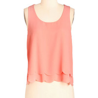 ModCloth Mid-length Sleeveless Cropped Bright at the Museum Top