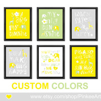Grey yellow you are my sunshine my only sunshine nursery decor gift for new parents safari new baby decor baby nursery quote kids quote song