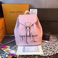 LV Louis Vuitton Women Leather Backpack 2019 Casual Daypack Travel bag