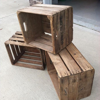 Vintage Wooden Apple Crate
