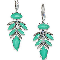 Alexis Bittar Fine - Mint Marquis Chrysoprase, Multicolor Sapphire & Sterling Silver Leaf Cluster Drop Earrings - Saks Fifth Avenue Mobile