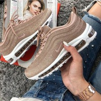 Nike Air Max 97 Women Gold Bullets Running Shoes